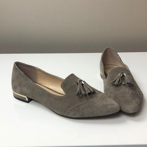 Vince Camuto Rizell Tan Suede Tassel Loafers